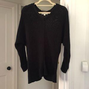 Black crocheted sweater